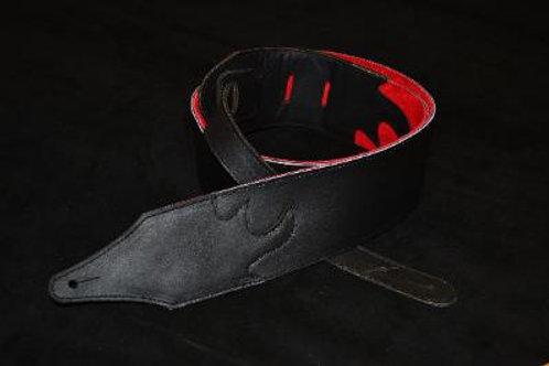 Carlino Custom Contrast Series, blk/red leather