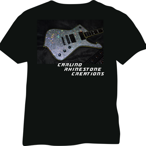 T Shirt Sample Rhinestone Guitar