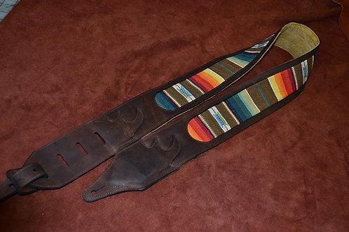 Carlino Santa Fe Leather Guitar Strap,Kodiak Brown
