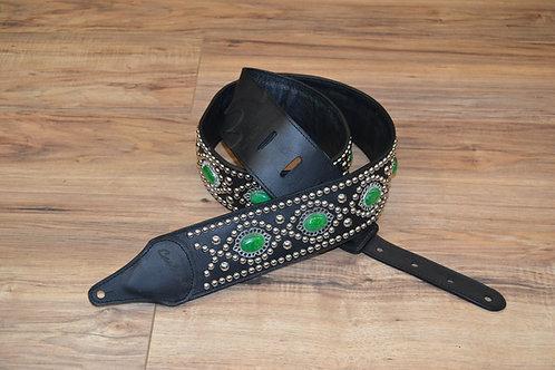 Carlino Custom Green Adventurine Guitar Strap
