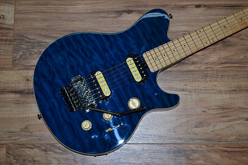 Sterling by Musicman AX4 Blue Quilt