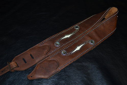 Carlino Custom Western F Hole Brown Leather Strap