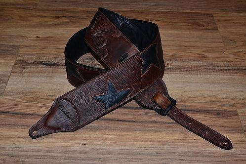 Carlino Custom Offset Star Strap Bison Strap