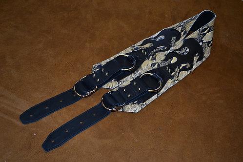 Carlino Gladiator Cobra Hide Black Leather Strap