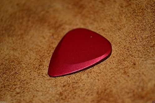 Fusion Tones Anodized Pick, red