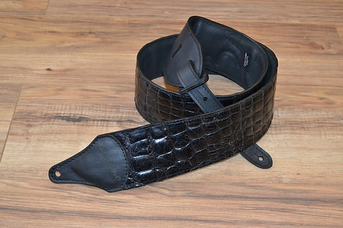 Carlino Black Croc Leather Strap