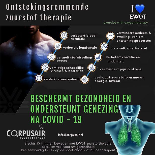 zuurstoftherapie versterkt weerstand en versnelt herstel na corona.
