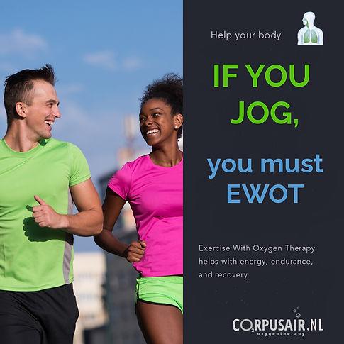 Sporters trainen met zuurstoftherapie EWOT voor conditie, minder verzuring, snel herstel, betere prestaties
