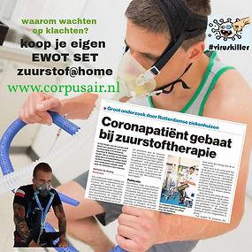 coronapatient gebaat bij zuurstoftherapie, corpusair.nl.