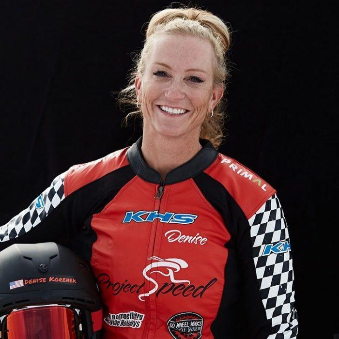 DENISE KORENEK Professionele wielrenner en tweevoudig Guinness wereldrecordhouder. Ze bereikte deze ongelooflijke prestatie op 45 jarige leeftijd terwijl ze BEMER gebruikte.