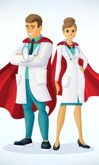 super-dokter-stripfiguur-superheld-arts-