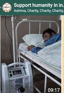 Zuurstof voor coronapatienten in India. AngelBiss zuurstofconcentratoren in ziekenhuis Bangalore.