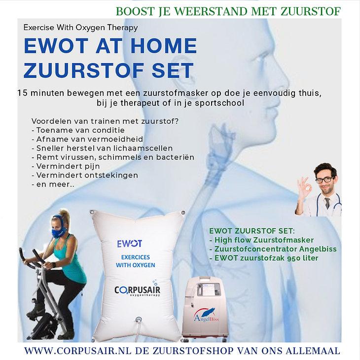 Corpusair.nl biedt zuurstofrevolutie  EWOT Exercise With Oxygen Therapy - Boost je weerstand met extra zuurstof. EWOT zuurstofset op voorraad.