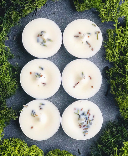 Green Lavender | Soy Tealight Candle Set