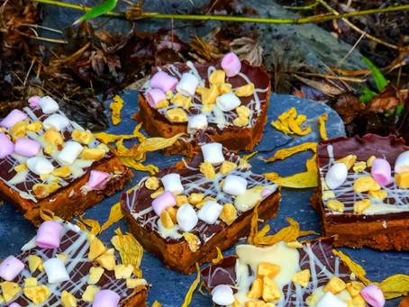 Honeycomb biscoff bites