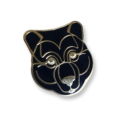 "MAMA BEAR Gold Black and White Enamel Pin 1"""