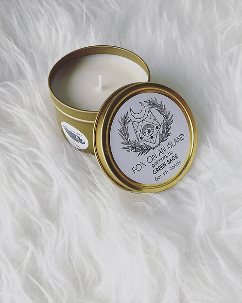 Scented Soy Candle - 6 Ounce Gold