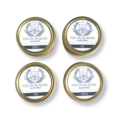 Scented Soy Candle - 4 Ounce Gold
