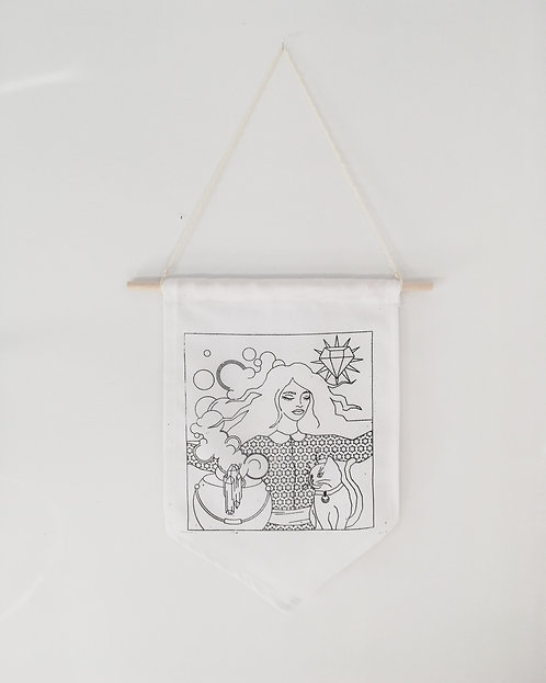 Witch of Diamonds Wall Hanging
