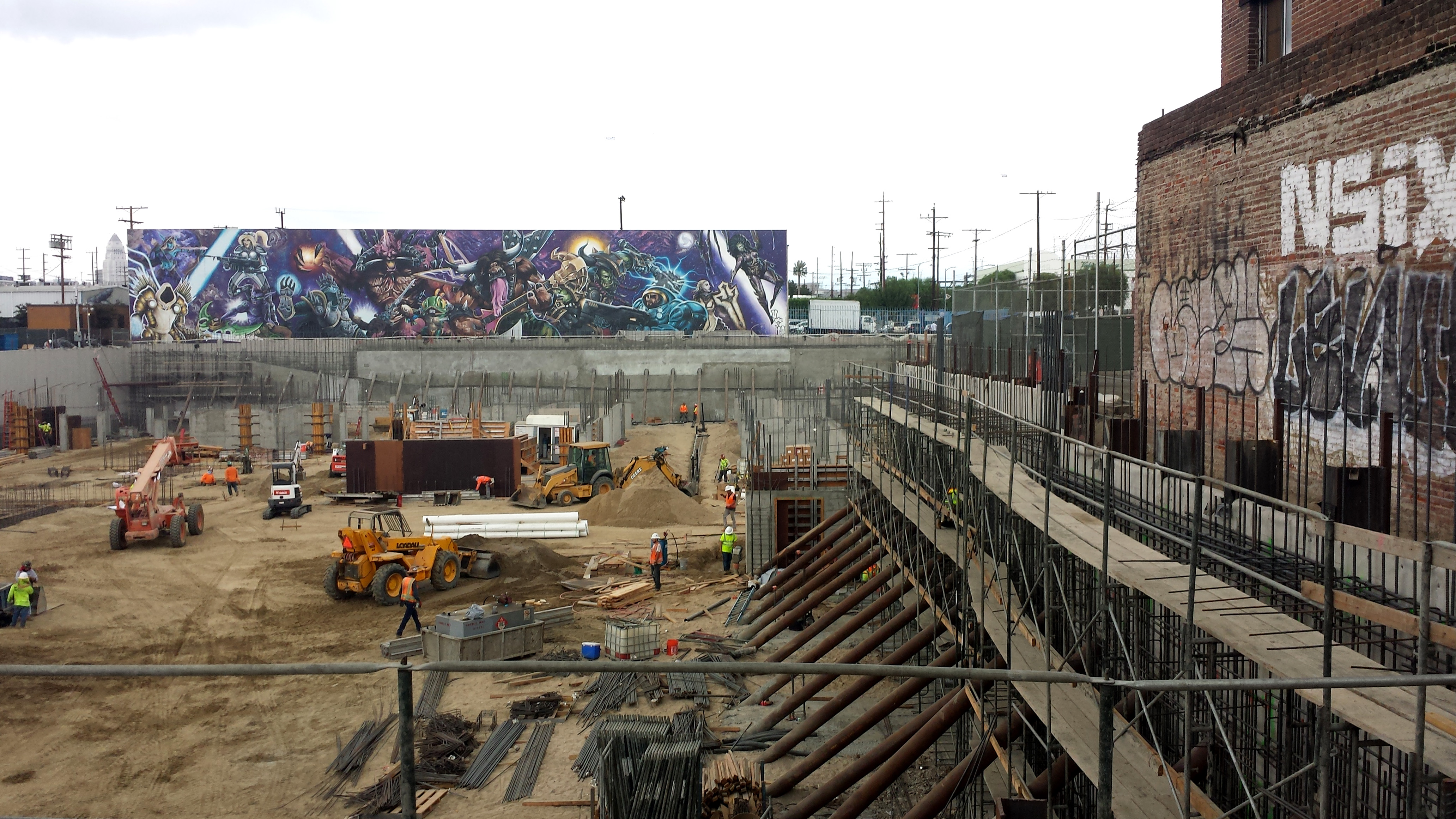 20171101_142814. Construction Zone with Mural