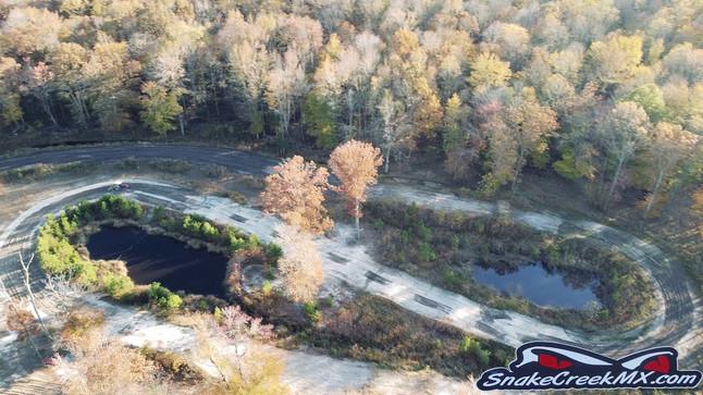 Dirt bike track drone promo