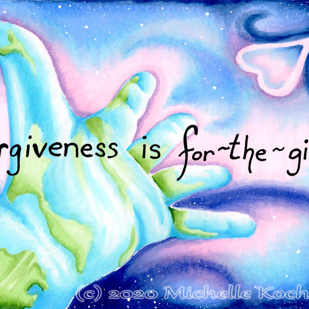 Forgiveness is for the Giver