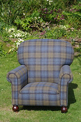 Rebuilt from the frame in Abraham Moon wool, Antique range.