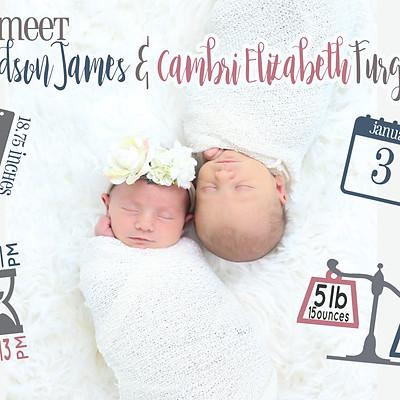 Hudson James & Cambri Elizabeth Furgala