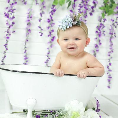 Deklyn takes a Milk Bath!