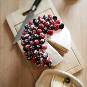 Nude Cake - mûres & framboises 😋