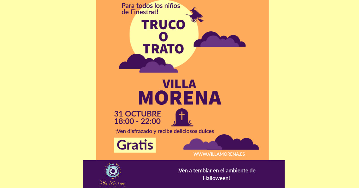 Halloween Villa Morena Truco o trato Fin