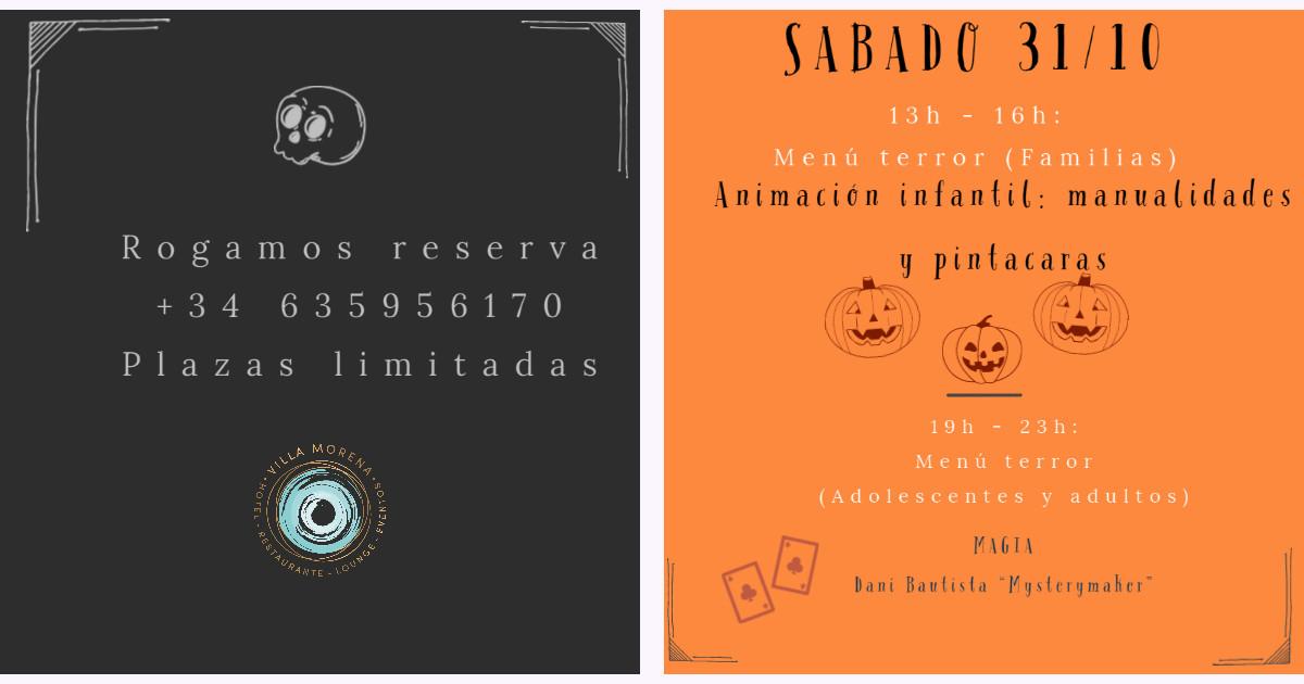 Halloween Villa Morena Reserva sabado