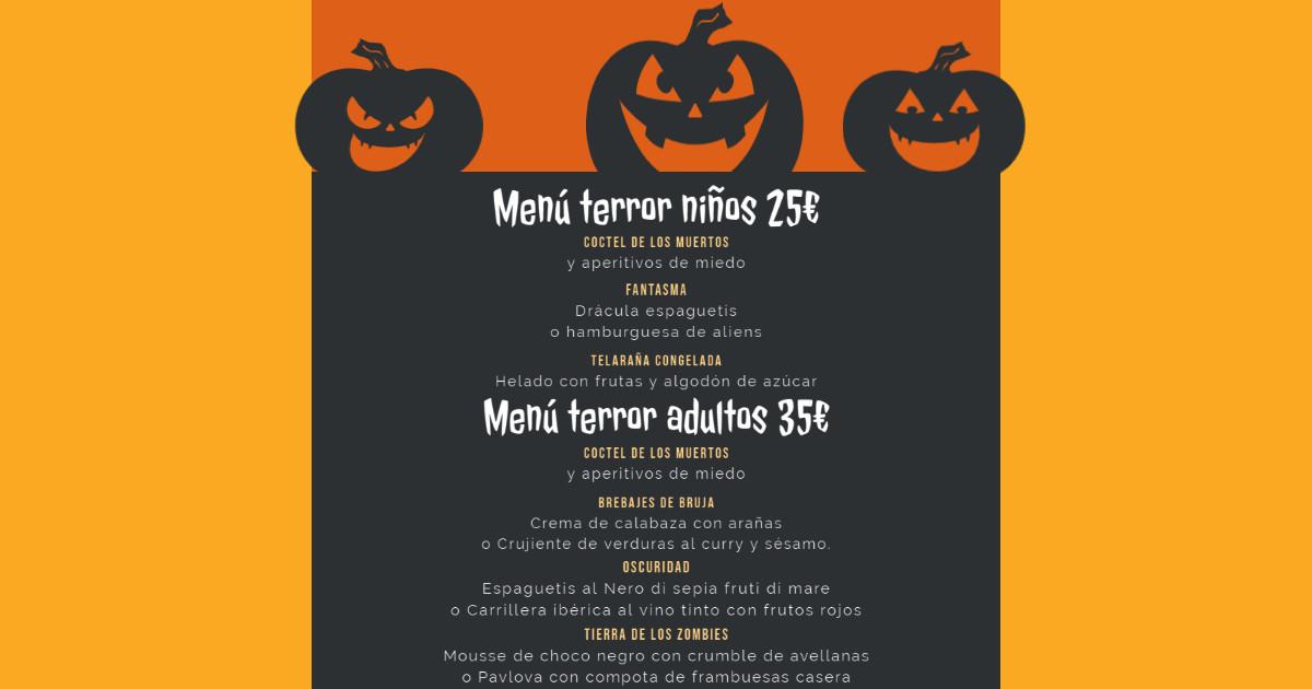 Halloween Villa Morena Menu