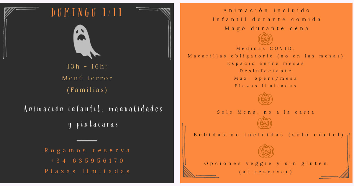 Halloween Villa Morena Reserva domingo