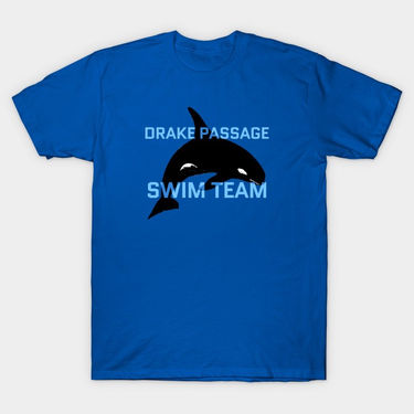 Drake Passage drawing on t-shirt