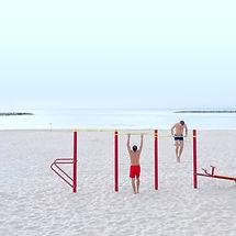 Treino na praia