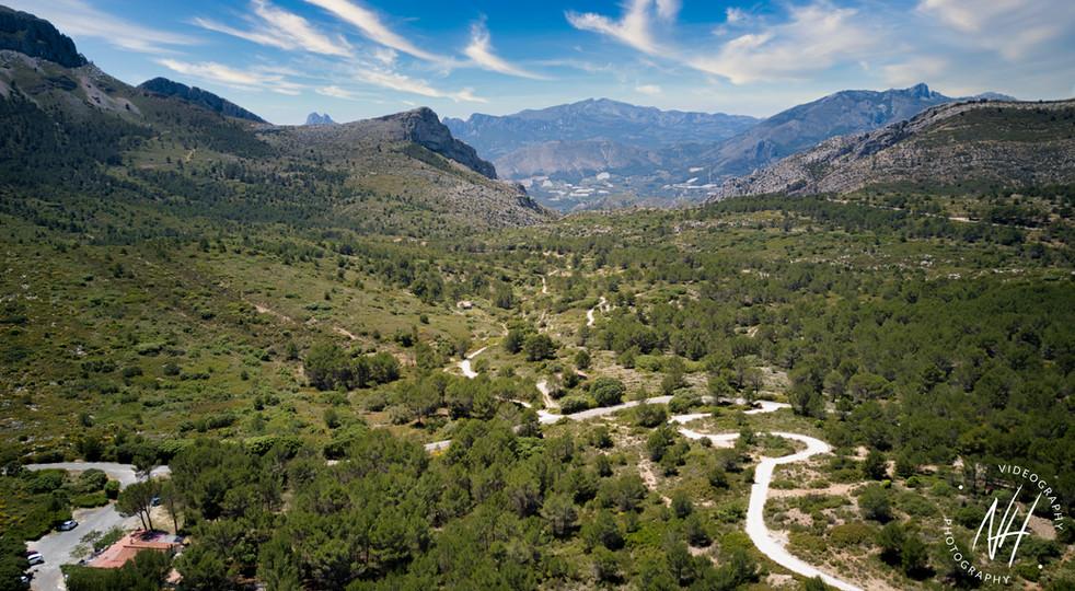 Blick auf die Sierra d' Alfaro