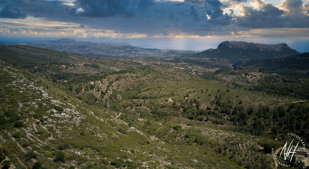 Blick nach Calpe, Olta Gebirge und Cumpre del Sol