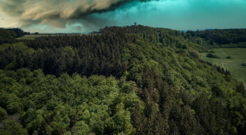 Doppelmaar bei Boos. Vulkan Eifel