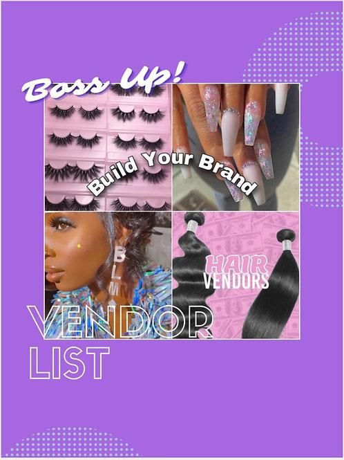 Boss Up Vendors List