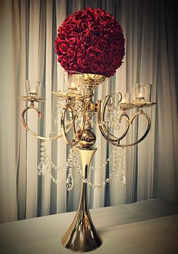5-candle pillar candelabra