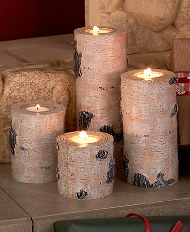 4-Candle Birch Centerpiece