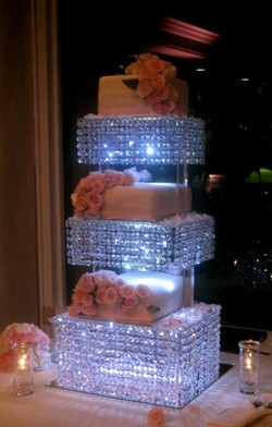 Layered LED Crystal Stand