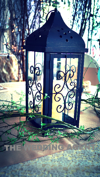 Scroll Lantern Centerpiece