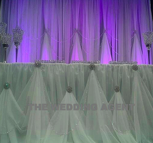 GLAM Backdrop with GLAM Head Table