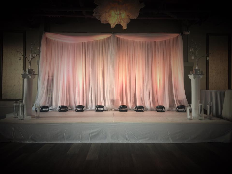 Simple Top Drape Backdrop