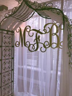 Garden Arch with Draping and Monogra