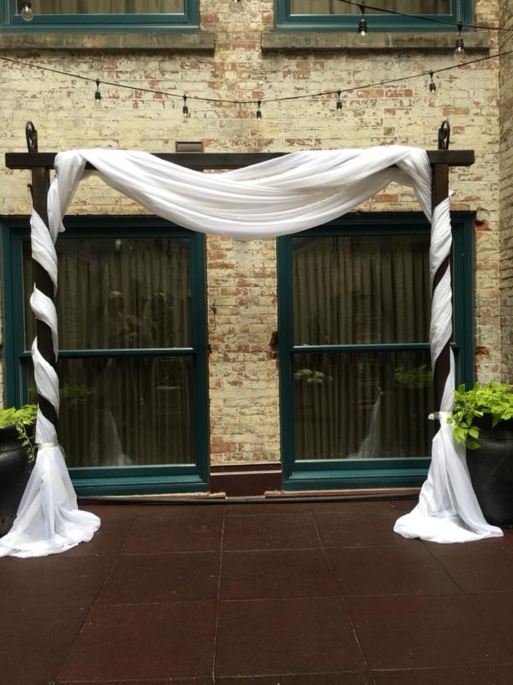 Drape on Arch Greenhouse room