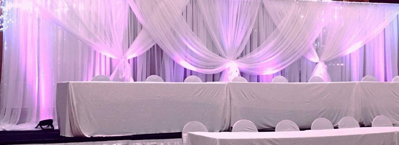 Double Drape Criss-Cross Backdrop