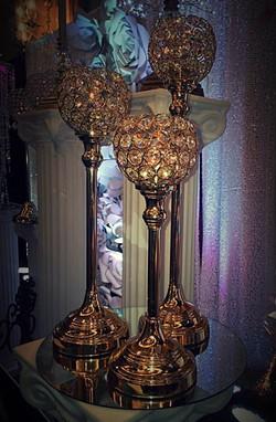 Austrian Crystal 3-pc Gold Globe